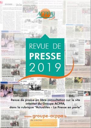 Revue de Presse Groupe ACPPA 2019
